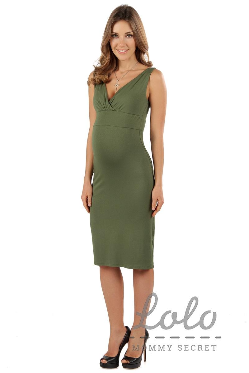 1291b5cc58c Платье для беременных Dr036 хаки Арт. 3036-0-0 оптом. Купить оптом ...