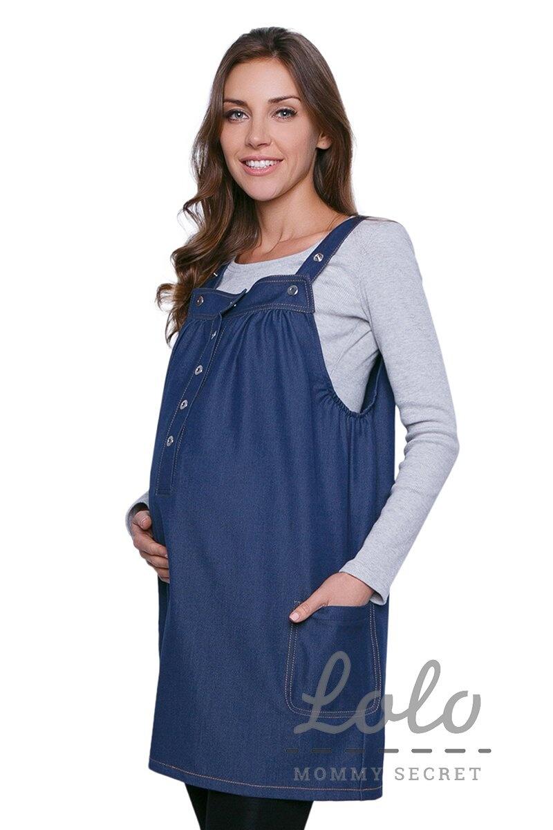 Джинсовый сарафан для беременной Sd001.2 Арт. 3006-0-2 оптом. Купить ... c2bcd4e2d8e
